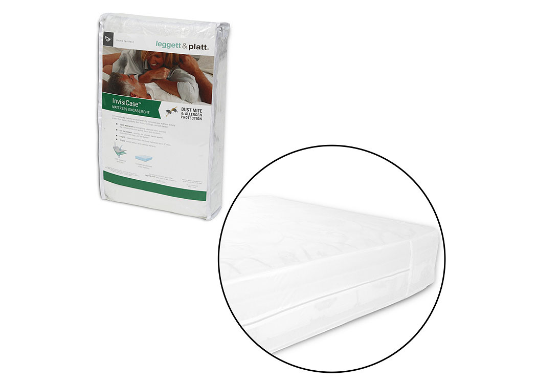 InvisiCase White Twin Mattress Encasement,Fashion Bed Group