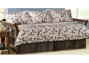Finn Blue, Brown, Tan Twin Pillow & Bedding Set (Daybed), 5-Piece