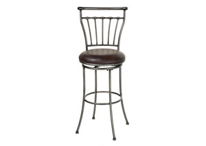 Topeka Silver 26-Inch Barstool