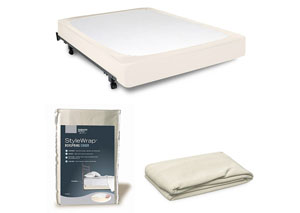StyleWrap Ivory Twin Box Spring Cover