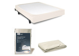 StyleWrap Ivory Queen Box Spring Cover