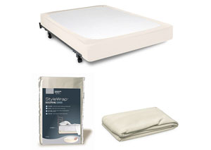 StyleWrap Ivory King Box Spring Cover,Fashion Bed Group