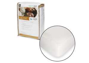 MicroPlush White Twin Mattress Protector