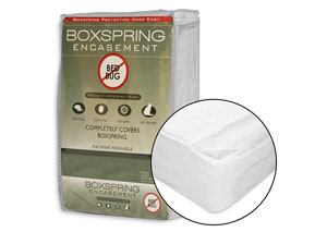 White Twin Box Spring Encasement