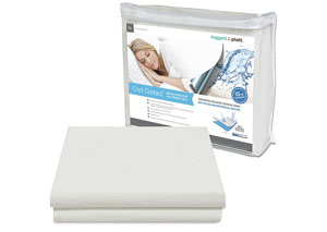 Cool Contact White Full Mattress Protector