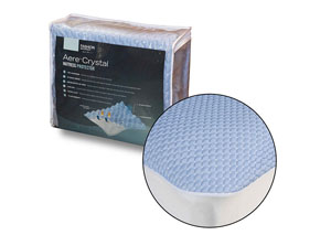 Aere Blue Twin Mattress Protector