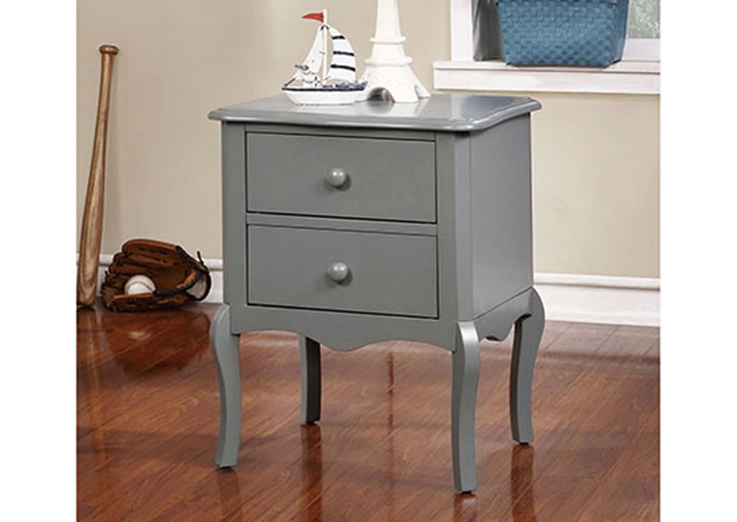 Lexie Gray 2 Drawer Nightstand,Furniture of America