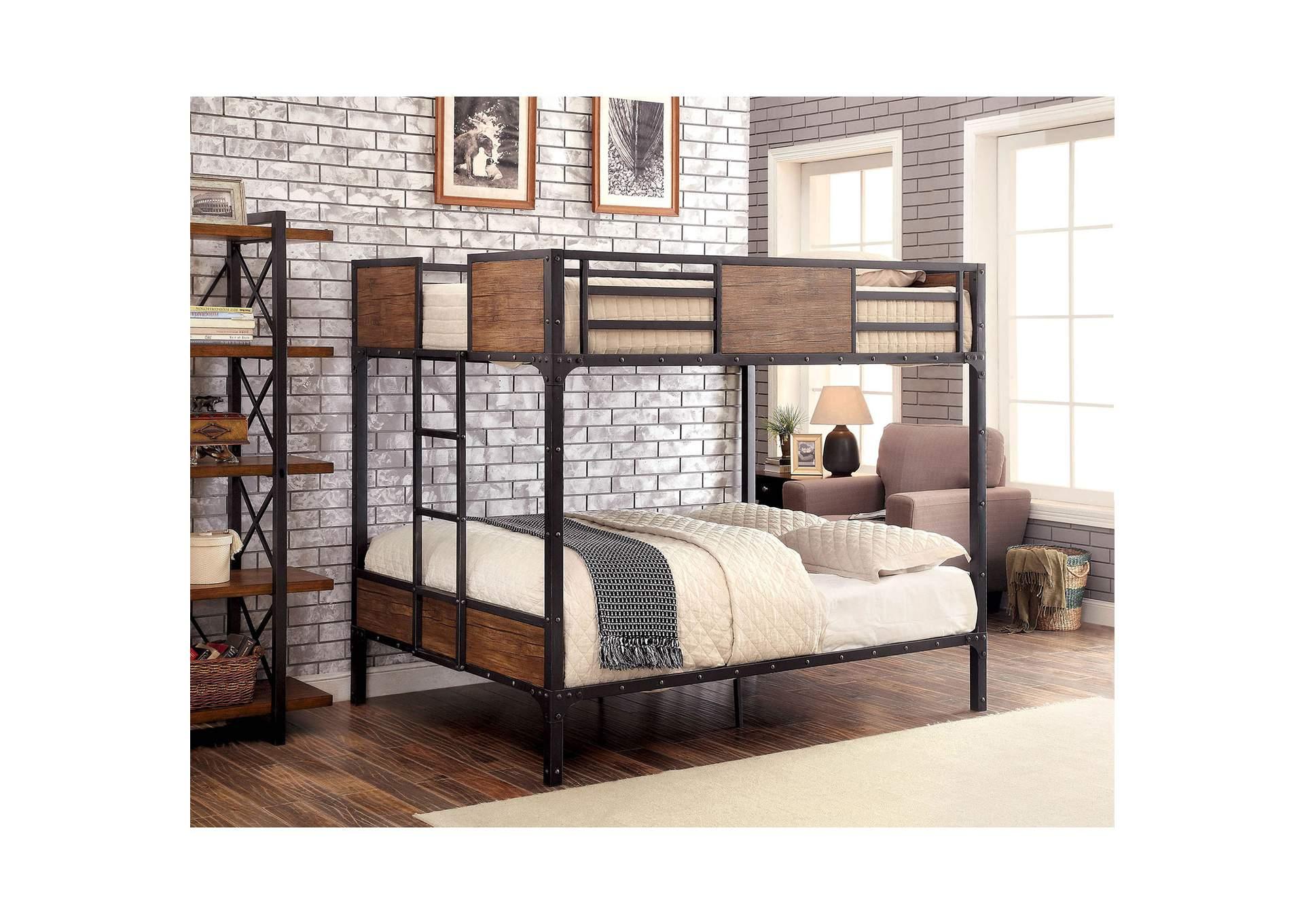 Furniture ville bronx ny clapton black full full bunk bed for Furniture ville