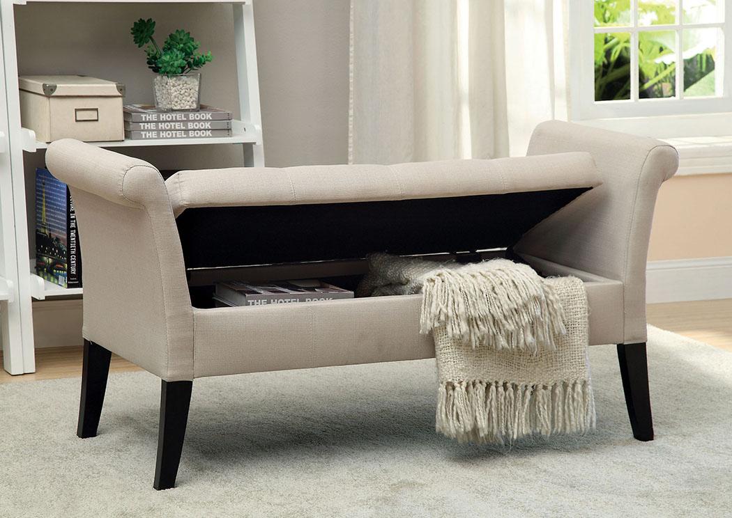 the furniture loft doheny ivory fabric storage bench