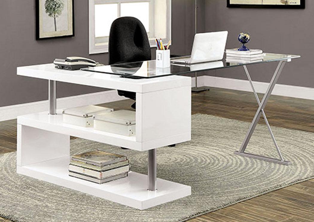 Long Island Discount Furniture Bronwen White Desk