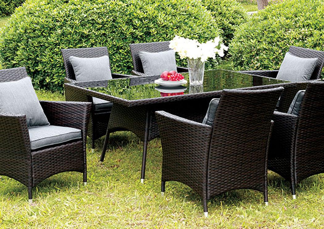 pocket friendly furniture leodore espresso glass top patio