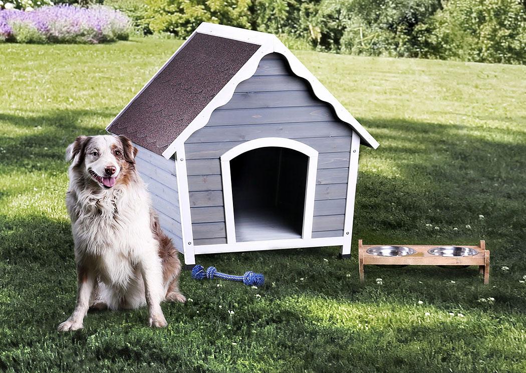 Attractive Carrington Small White/Gray Pet House,Furniture Of America
