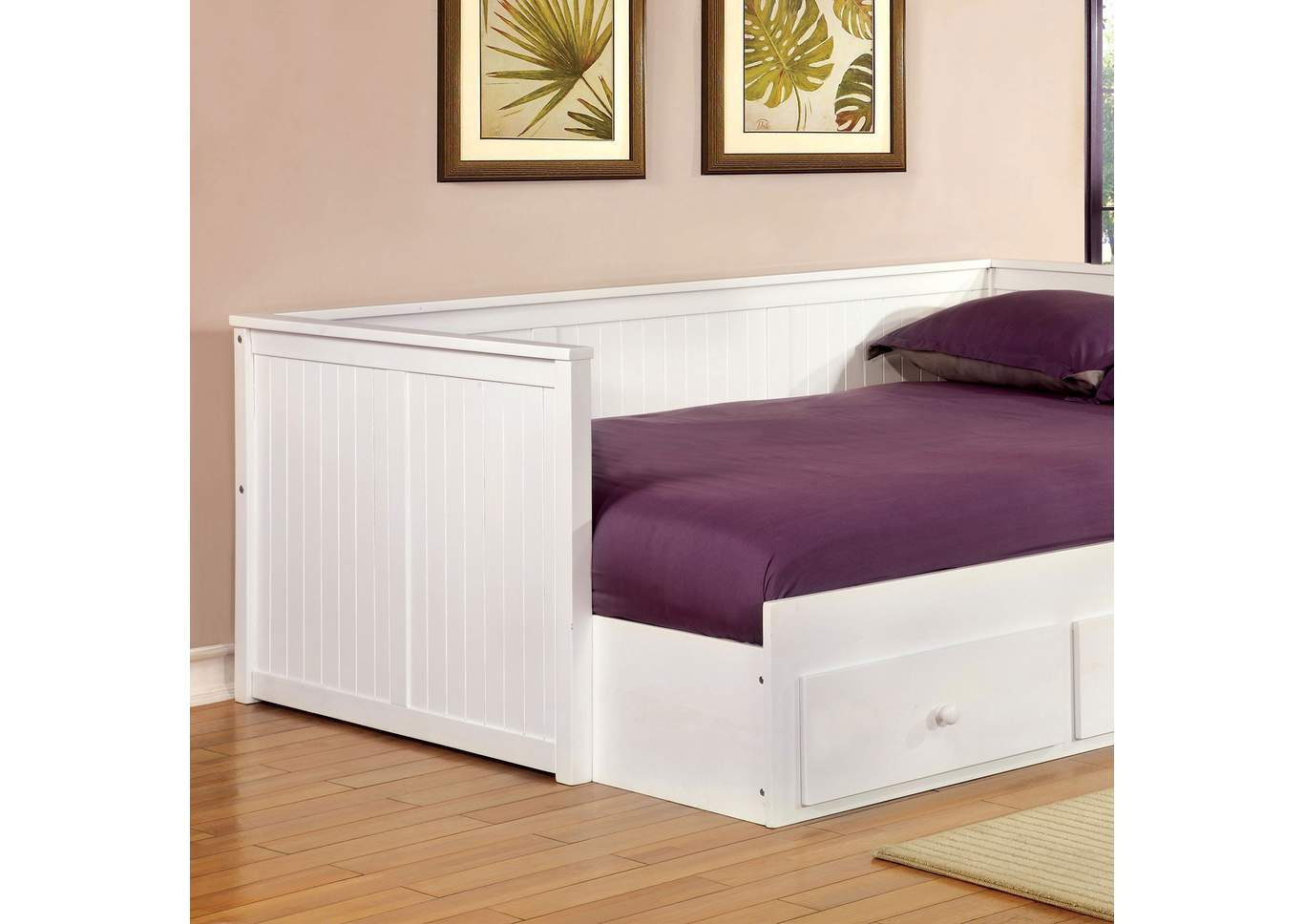 long island discount furniture wolford white daybed w storage