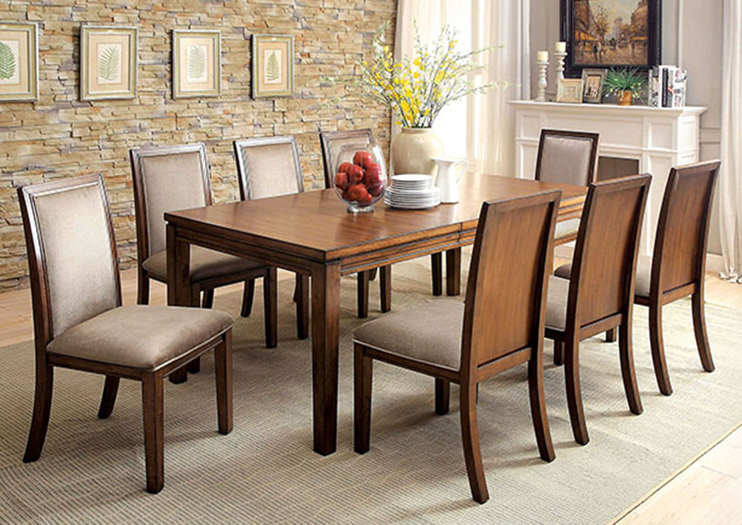 Ingrid Walnut Dining Table W 8 Side ChairsFurniture Of America