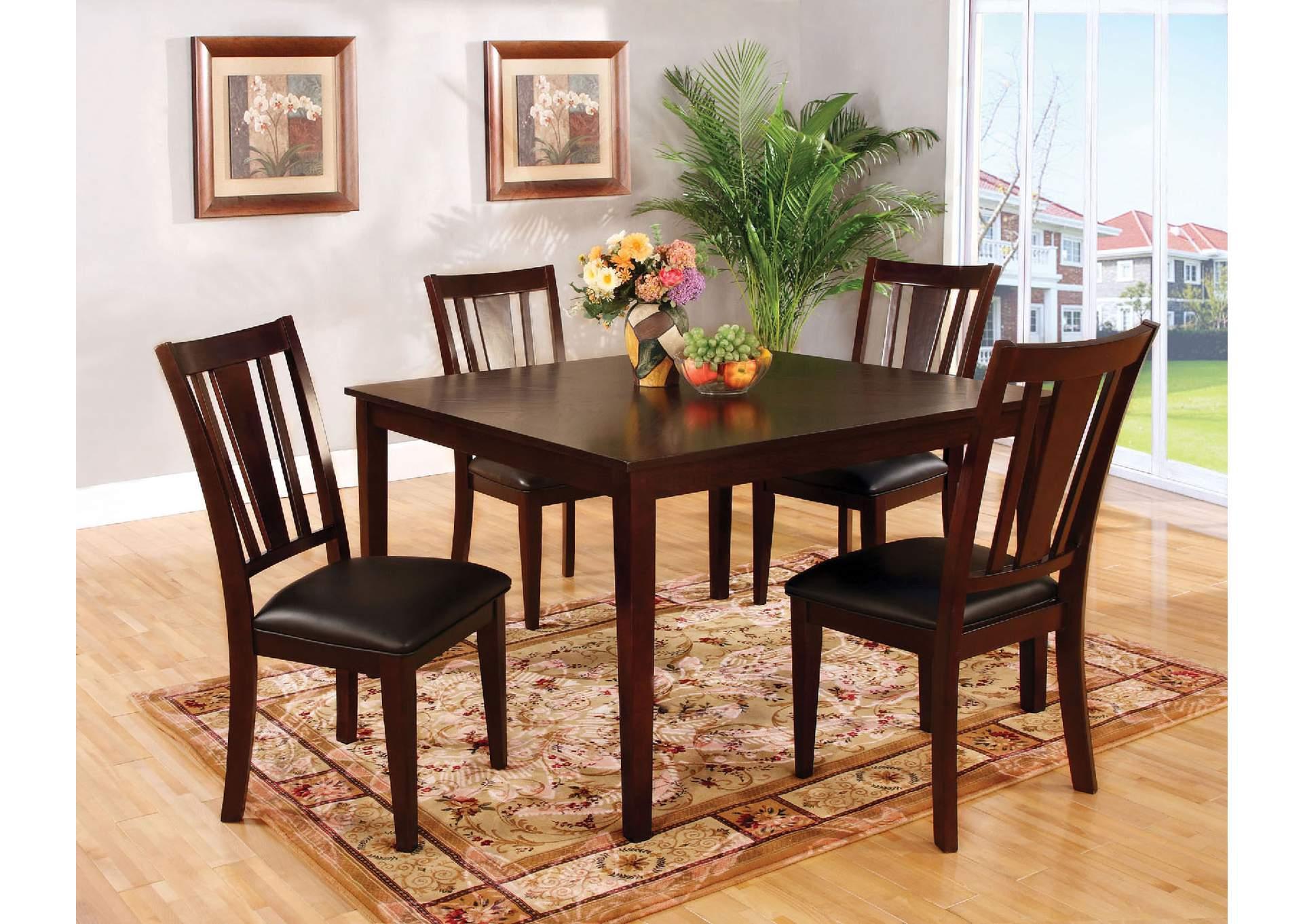furniture ville bronx ny bridgette i espresso 5 pc dining table set. Black Bedroom Furniture Sets. Home Design Ideas