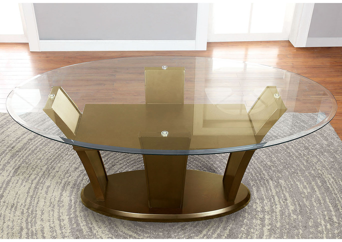 Furniture ville bronx ny manhattan l oval glass top for Furniture ville