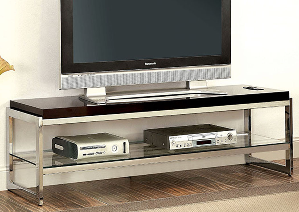 Brisa 60' Chrome TV Stand,Furniture of America