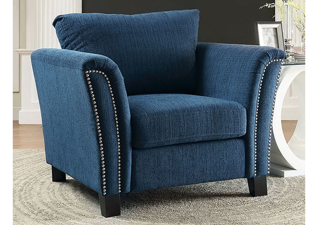 Campbell Dark Teal Chair,Furniture Of America