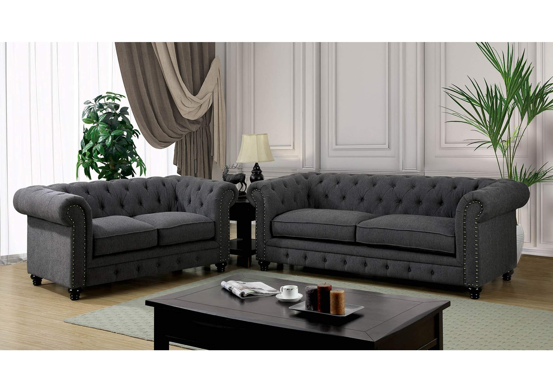 furniture ville bronx ny stanford gray sofa and loveseat