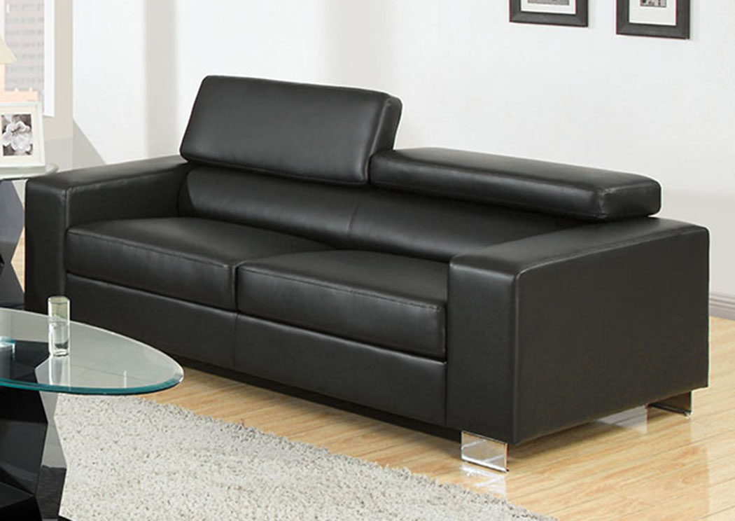 Makri Black Sofa,Furniture of America