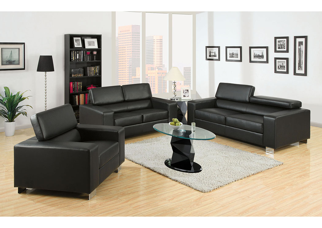 Furniture ville bronx ny makri black chair for Black front room furniture