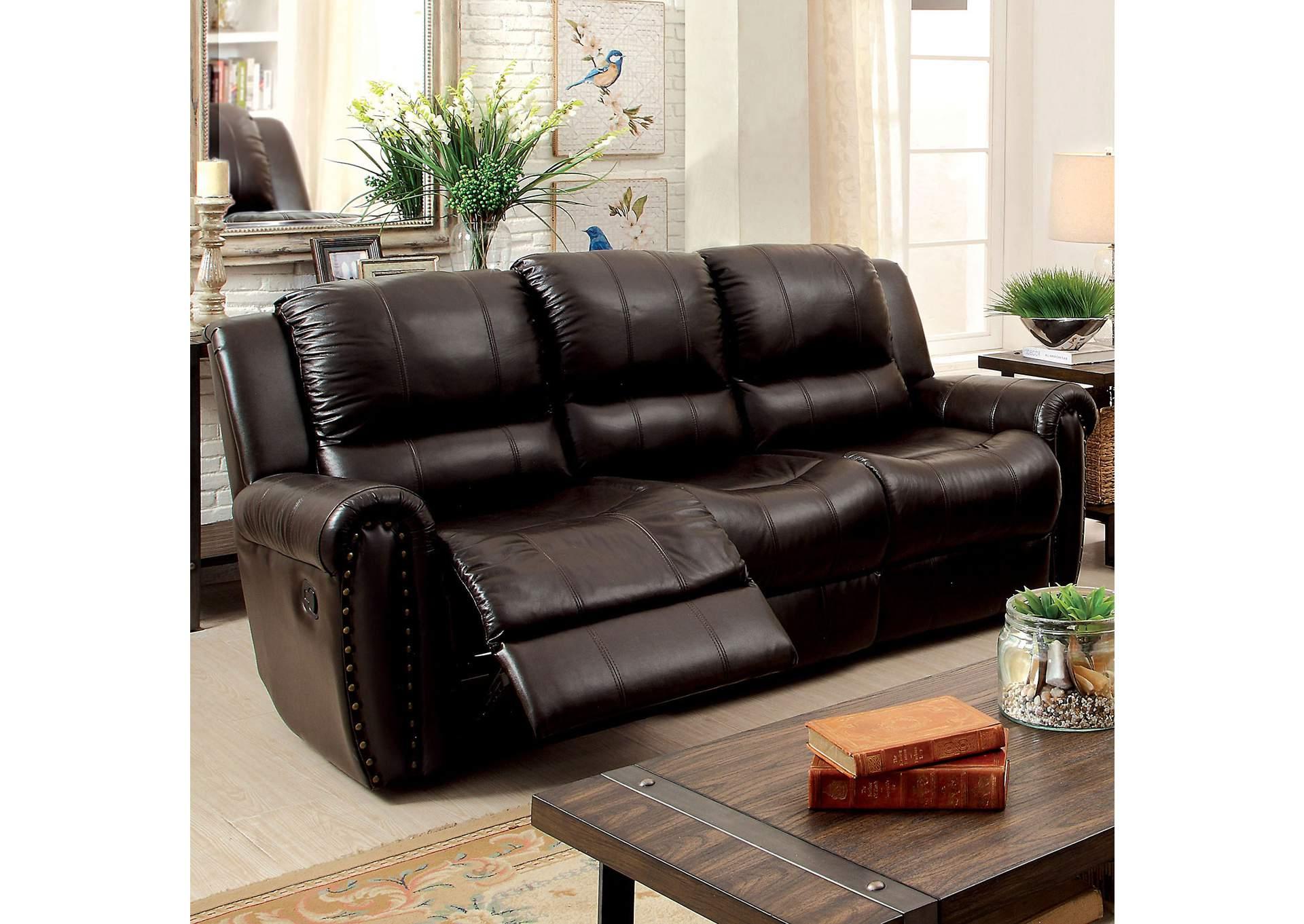 278680 Foxboro Brown Leather Sofa