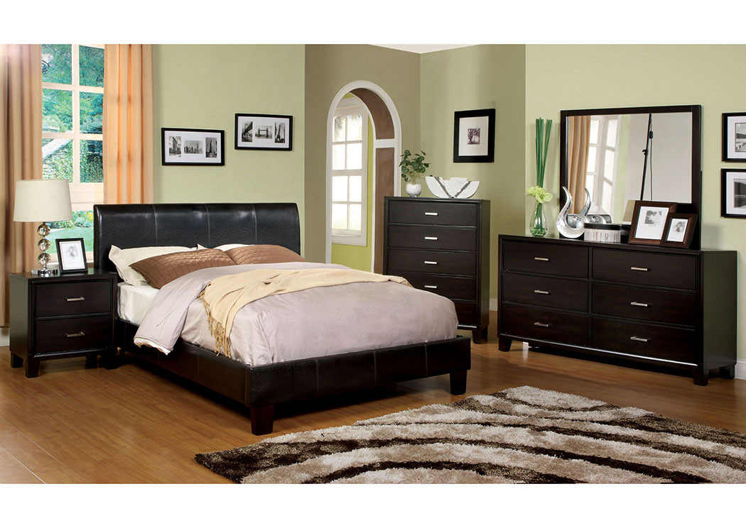 Charming Villa Park Espresso Full Platform Bed,Furniture Of America