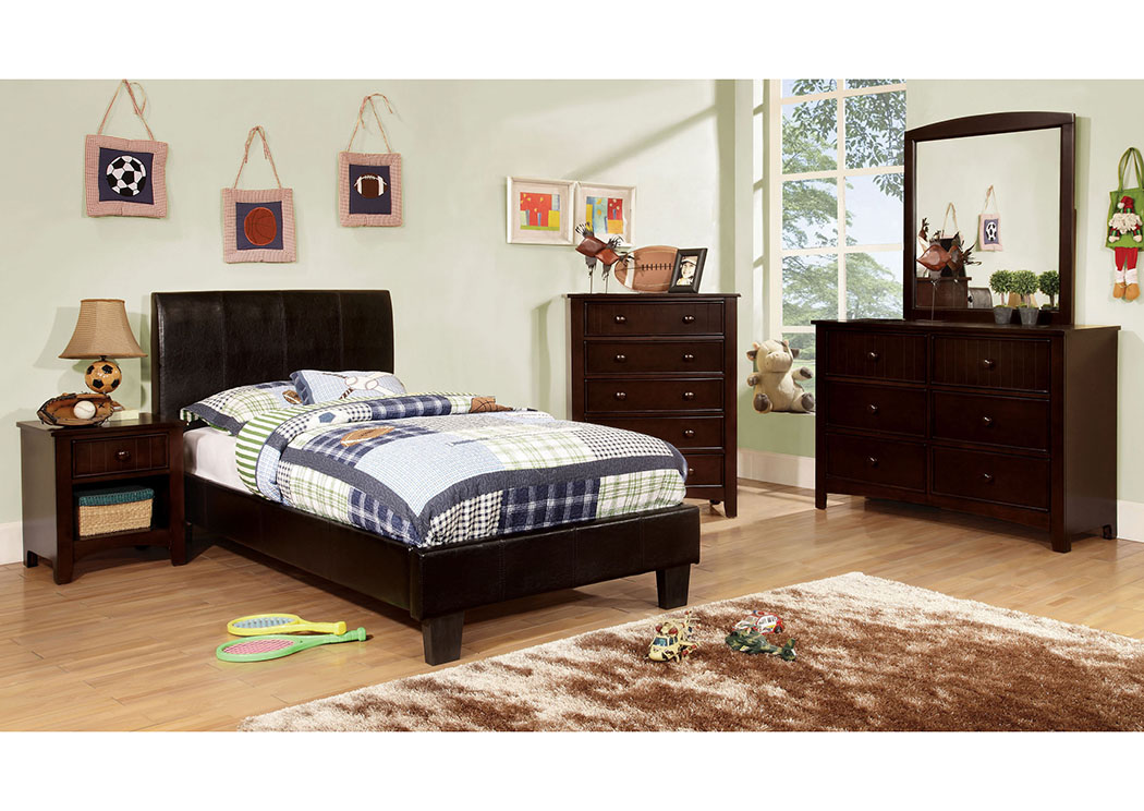 Furniture ville bronx ny villa park espresso twin for Furniture ville
