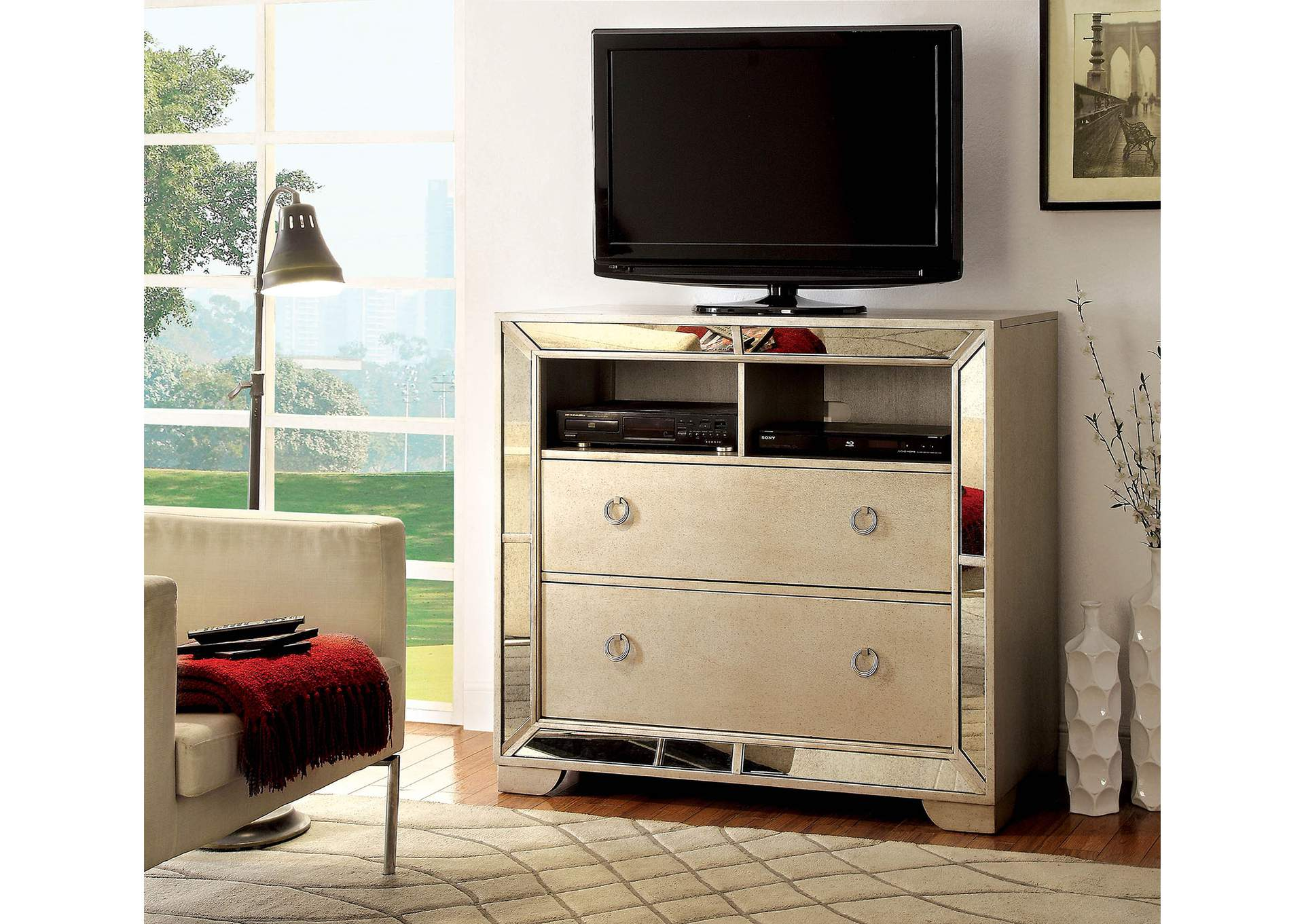 bedroom media chest. Loraine Silver Media Chest w Antique Mirror Panels Organize Your Electronics with Our Versatile Bedroom Chests