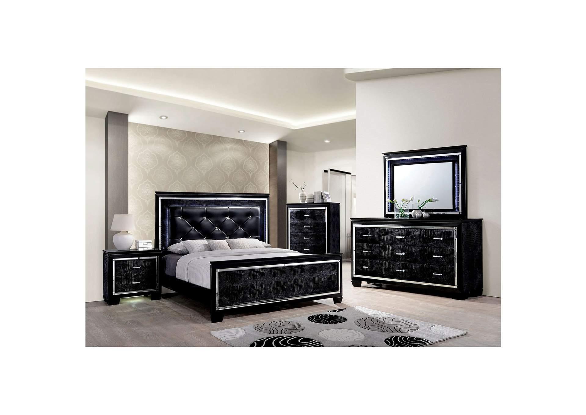 In Home Furniture Bellanova Black California King