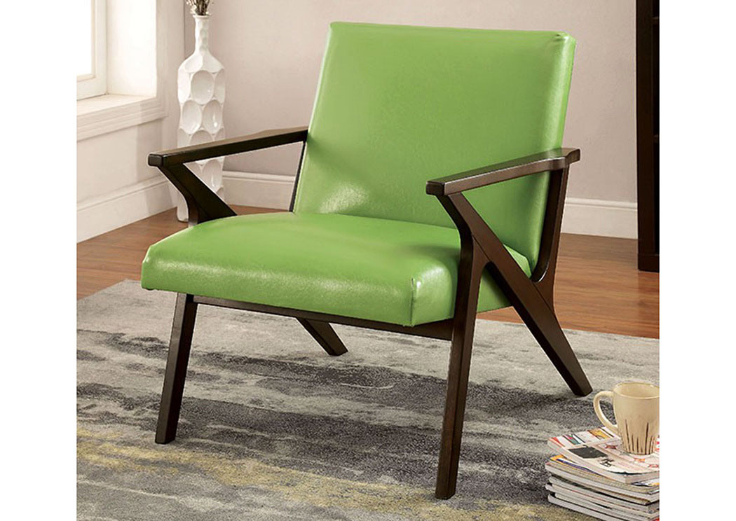 Best Buy Furniture And Mattress Margaux Apple Green Accent Chair