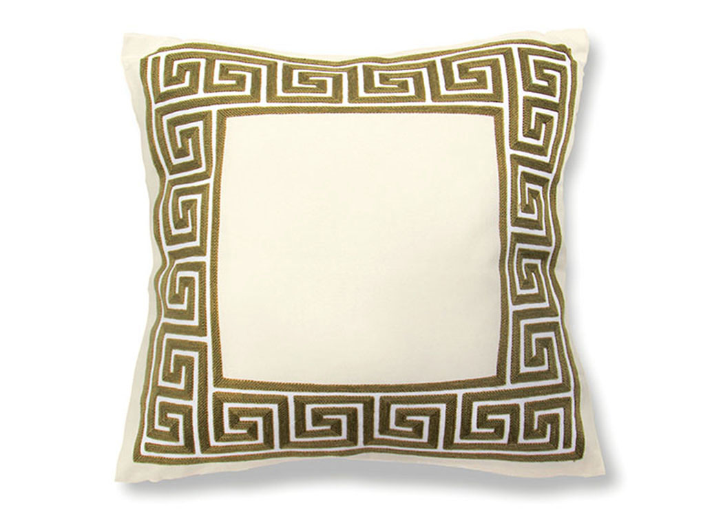 Sade Gold Fret Frame Pillow, 20 x 20' (8/Ctn),Furniture of America