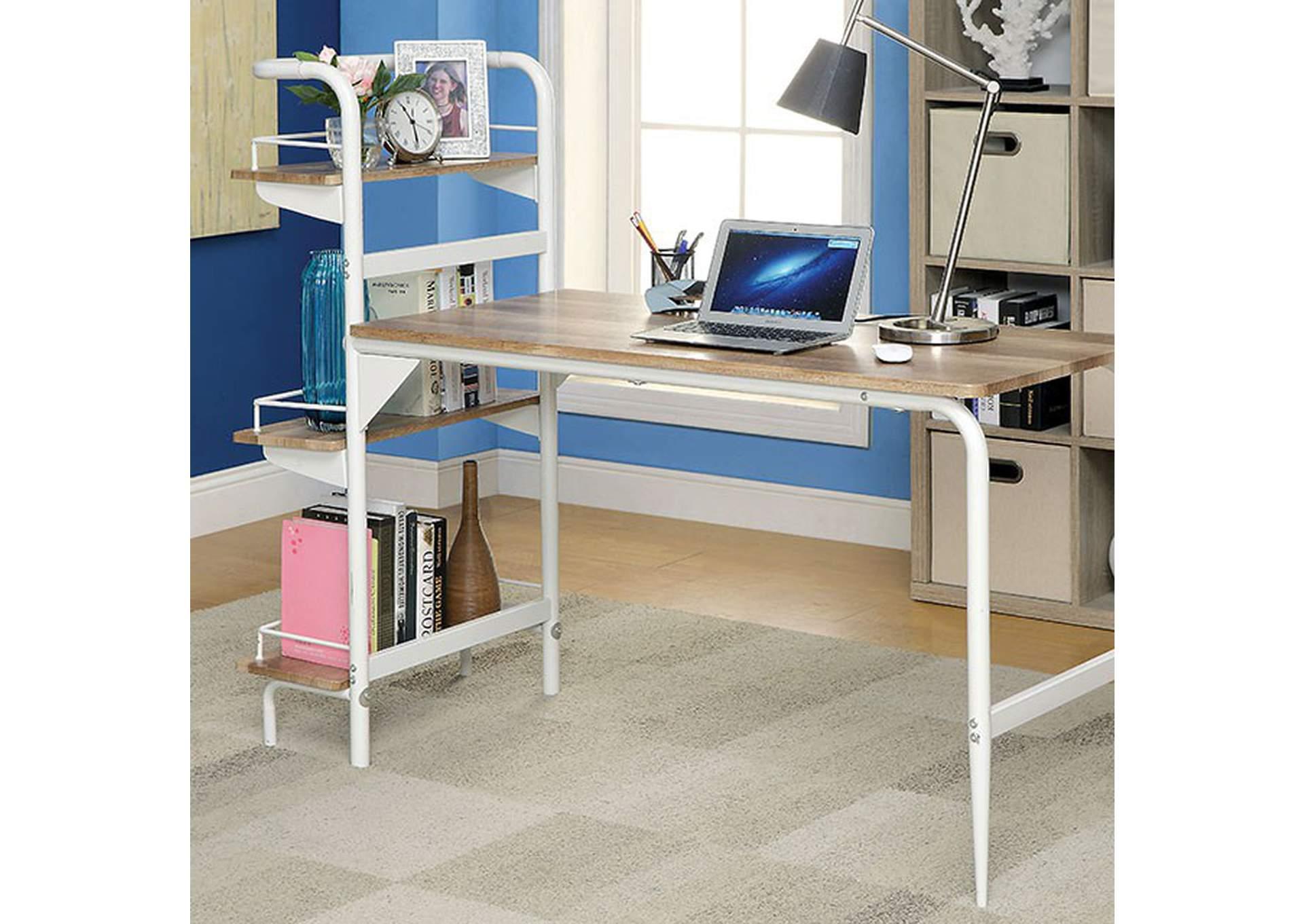 Darwish Furniture | New York City Ashley Furniture Dealer Maisy Chrome Computer  Desk W/Bookshelf