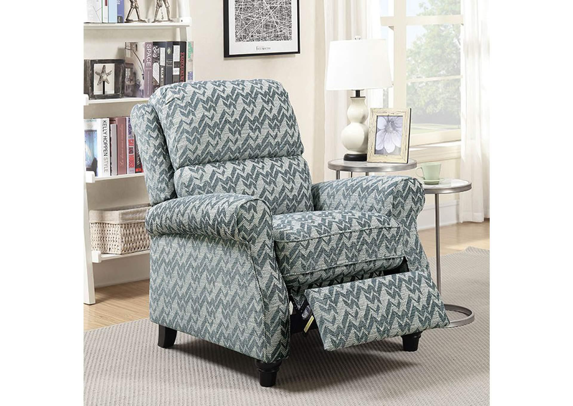 Attirant Amy Push Back Recliner,Furniture Of America