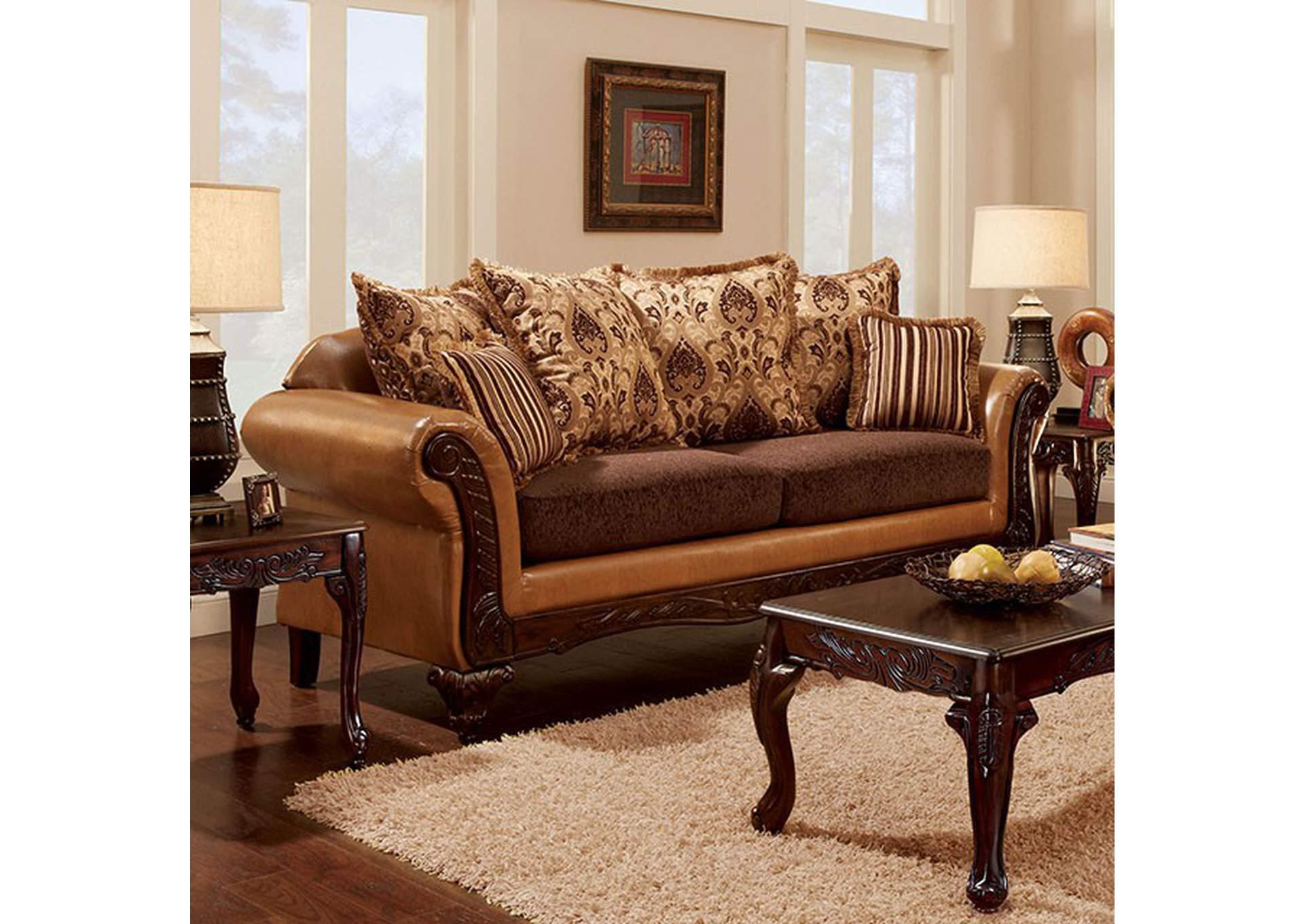 363334 Isabella Camel Brown Sofa