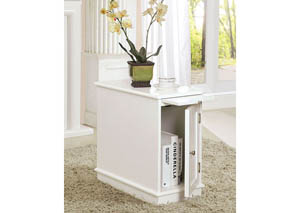 Lucer White Cabinet w/Pull-Out-Tray