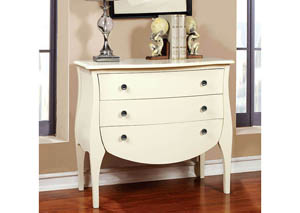 Havre White 3 Drawer Chest