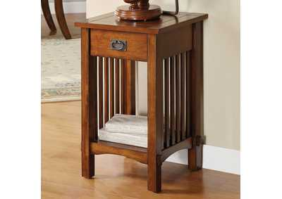 Valencia IV Antique Oak Telephone Stand w/1 Drawer & Open Shelf