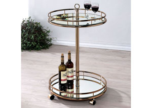 Trixie Champagne Serving Cart