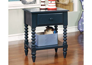 Lindsey Blue Nightstand w/Shelf