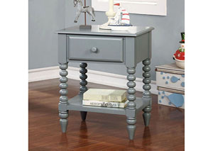 Lindsey Gray Nightstand w/Shelf