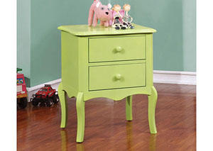 Lexie Apple Green 2 Drawer Nightstand,Furniture of America