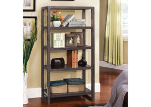 Fernie Grey 5-Tier Bookcase