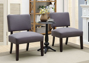 Arvid Gray/Walnut Accent Table & Chair Set