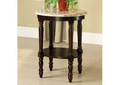 Santa Clarita Oval 5-Tier Ladder Shelf Plant Stand w/Marble Top