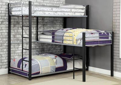 Aubrey Twin Triple Decker Bed