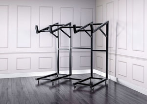 Regor Black Metal Futon Rack