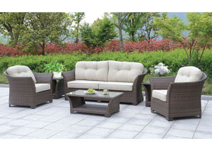 Bowbells Brown 6 Piece Patio Set