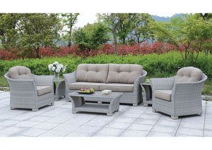 Bowbells Gray 6 Piece Patio Set