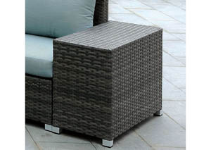 Morgana Dark Gray Wicker Side Table